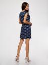 Платье принтованное из вискозы oodji #SECTION_NAME# (синий), 11910073-2/45470/7912D - вид 3