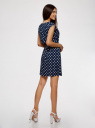 Платье принтованное из вискозы oodji для женщины (синий), 11910073-2/45470/7912D
