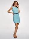 Платье льняное без рукавов oodji #SECTION_NAME# (синий), 12C00002-1B/16009/7000N - вид 6