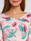 Платье трикотажное облегающее oodji #SECTION_NAME# (розовый), 14001121-3B/16300/4073F - вид 4