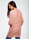 Кардиган ажурной вязки без застежки oodji для женщины (коричневый), 63207194/26279/4B00N