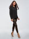 Блузка базовая из вискозы с нагрудными карманами oodji #SECTION_NAME# (черный), 11411127B/42540/2900N - вид 6
