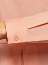 Блузка хлопковая с баской oodji #SECTION_NAME# (розовый), 13K00001-1B/42083/4300N - вид 5