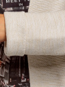 Кардиган удлиненный без застежки oodji #SECTION_NAME# (бежевый), 63207186-1/49408/3310M - вид 5