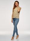 Топ базовый из струящейся ткани oodji для женщины (желтый), 14911006-2B/43414/5019F - вид 6