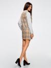 Платье клетчатое без рукавов oodji #SECTION_NAME# (бежевый), 11910072-2/32831/3529C - вид 3