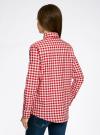 Рубашка свободного силуэта с регулировкой длины рукава oodji #SECTION_NAME# (красный), 11411099-1/43566/4512C - вид 3