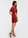 Платье из искусственной замши свободного силуэта oodji #SECTION_NAME# (красный), 18L11001/45622/3100N - вид 3