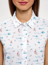 Рубашка прямая без рукавов oodji #SECTION_NAME# (белый), 14911017/49224/126CO - вид 4