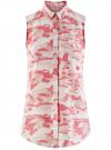 Топ вискозный с нагрудным карманом oodji #SECTION_NAME# (розовый), 11411108B/26346/4041O
