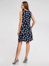 Платье без рукавов с расклешенной юбкой oodji #SECTION_NAME# (синий), 11911018M/46594/7970F - вид 3
