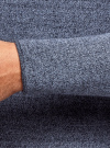 Джемпер базовый с круглым воротом oodji #SECTION_NAME# (синий), 4B112006M/25990N/7575O - вид 5