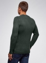 Джемпер прямого силуэта с круглым вырезом oodji #SECTION_NAME# (зеленый), 4L107131M/48731N/6900N - вид 3
