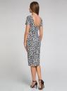 Платье трикотажное с графическим принтом oodji #SECTION_NAME# (синий), 14018001/45396/7912G - вид 3