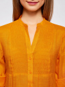 Туника с V-образным вырезом oodji #SECTION_NAME# (оранжевый), 21412068-2/19984/5500N - вид 4
