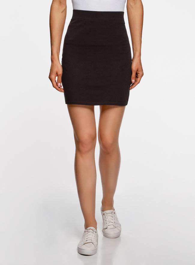 Комплект трикотажных юбок (3 штуки) oodji для женщины (черный), 14101001T3/46159/2900N