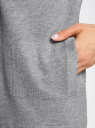 Кардиган без застежки с декоративными карманами oodji #SECTION_NAME# (серый), 73212397/45904/2300M - вид 5