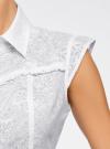 Блузка из ткани деворе oodji #SECTION_NAME# (белый), 11405092-5/26206/1000N - вид 5