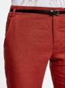 Брюки зауженные с ремнем oodji для женщины (красный), 11706205/16009/4900N