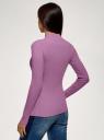 Водолазка базовая из хлопка oodji для женщины (фиолетовый), 15E11009B/48002/8000N