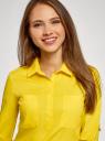 Рубашка базовая с нагрудными карманами oodji #SECTION_NAME# (желтый), 11403222B/42468/5100N - вид 4