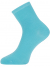 Носки базовые хлопковые oodji для женщины (бирюзовый), 57102466B/47469/7300N - вид 2
