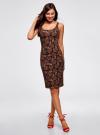 Платье-майка трикотажное oodji #SECTION_NAME# (черный), 14015007-3B/37809/2945E - вид 2
