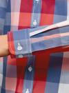 Блузка клетчатая прямого силуэта oodji для женщины (разноцветный), 11411131/46090/4574C - вид 5