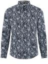 Рубашка приталенная из хлопка oodji #SECTION_NAME# (синий), 3L110358M/19370N/7975E
