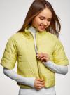 Куртка стеганая с короткими рукавами oodji для женщины (желтый), 10207003/45420/5001N - вид 4