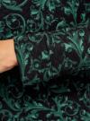 Свитшот принтованный из фактурной ткани oodji #SECTION_NAME# (зеленый), 14807001-3/33537/296DE - вид 5