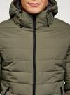 Куртка утепленная с капюшоном oodji #SECTION_NAME# (зеленый), 1B112036M/49421N/6600N - вид 4