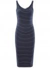 Платье трикотажное на тонких бретелях oodji #SECTION_NAME# (синий), 14015007-1B/45450/7912S