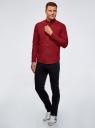 Рубашка хлопковая в клетку oodji #SECTION_NAME# (красный), 3L310168M/48837N/4529C - вид 6
