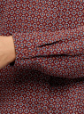 Блузка базовая из струящейся ткани oodji #SECTION_NAME# (красный), 11400368-8B/48854/4930G - вид 5