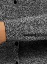 Кардиган вязаный с круглым вырезом oodji для женщины (серый), 63212568-1B/46801/2910M
