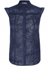 Блузка из ткани деворе oodji #SECTION_NAME# (синий), 11405092-5/26206/7900N - вид 6