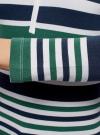 Футболка хенли в полоску с рукавом 3/4 oodji #SECTION_NAME# (разноцветный), 14211005/45748/106ES - вид 5