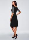 Платье с люрексом и расклешенной юбкой oodji для женщины (черный), 63912215/42963/2900X - вид 3