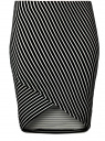 Юбка трикотажная с асимметричным низом oodji для женщины (черный), 14101081/45500/2910S