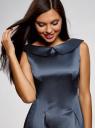 Платье приталенное с V-образным вырезом на спине oodji #SECTION_NAME# (синий), 12C02005/24393/7902N - вид 4