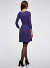 Платье трикотажное приталенное oodji #SECTION_NAME# (синий), 14011005-4/47420/7810P - вид 3