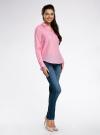 Рубашка хлопковая свободного силуэта oodji #SECTION_NAME# (розовый), 11411101B/45561/4100N - вид 6