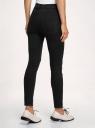 Джинсы skinny с высокой талией oodji для женщины (черный), 12103171-1/46920/2900W