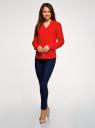 Блузка вискозная прямого силуэта oodji #SECTION_NAME# (красный), 21400394-1B/24681/4502N - вид 6