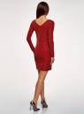 Платье обтягивающее из блестящей ткани oodji #SECTION_NAME# (красный), 14000165-1/46124/4500X - вид 3
