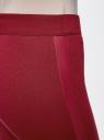 Легинсы трикотажные с декоративной отделкой oodji для женщины (красный), 18700049/16564/4900N