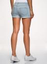 Шорты джинсовые базовые oodji для женщины (синий), 12807025-3B/46253/7000W