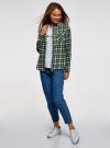Рубашка клетчатая с нагрудными карманами oodji #SECTION_NAME# (зеленый), 13L00001-2/48869/6230C - вид 6