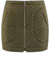 Юбка из фактурной ткани с молнией спереди oodji #SECTION_NAME# (зеленый), 11600410/38325/6800N